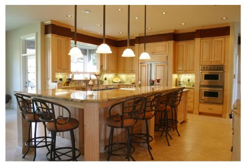 center island lighting. island seating for 8 sould i use in my kitchen over center lighting
