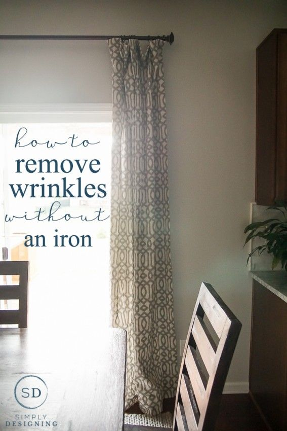 How To Get Creases Out Of Curtains Without Using An Iron Wrinkle Remover Curtains Cleaning Hacks