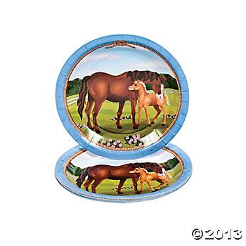 Mare Foal Dessert Plates Horse Birthday Horse Party Horse Birthday Parties