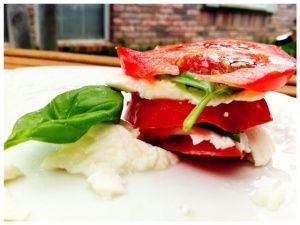 Layered Insalata Caprese Food A La Fac Insalata Caprese Food