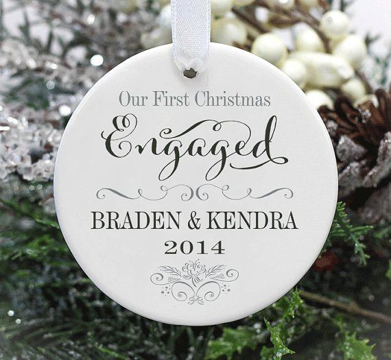 50 Cutest First Christmas Ornaments Engaged Married Emmaline Bride Engagement Ornaments First Christmas Married Engagement Christmas Ornament