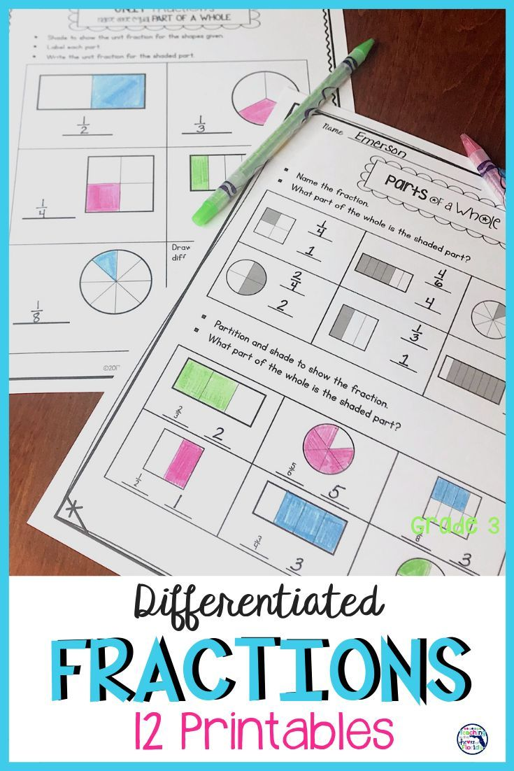 Fractions Worksheets Looking for differentiated fraction activities for your 3rd grade class? This