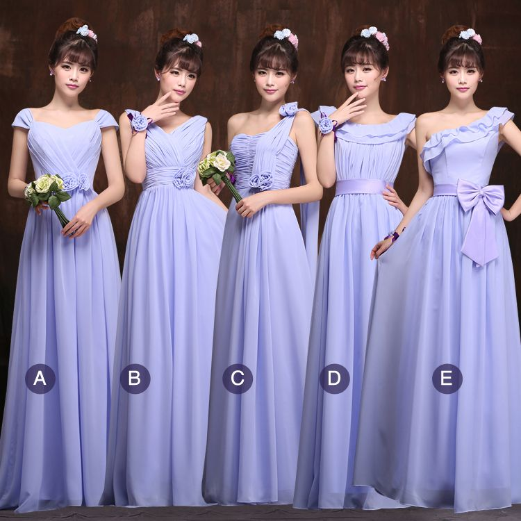 Bridesmaid Formal Dress To Wedding Party Long Formal Dresses Chiffon ...