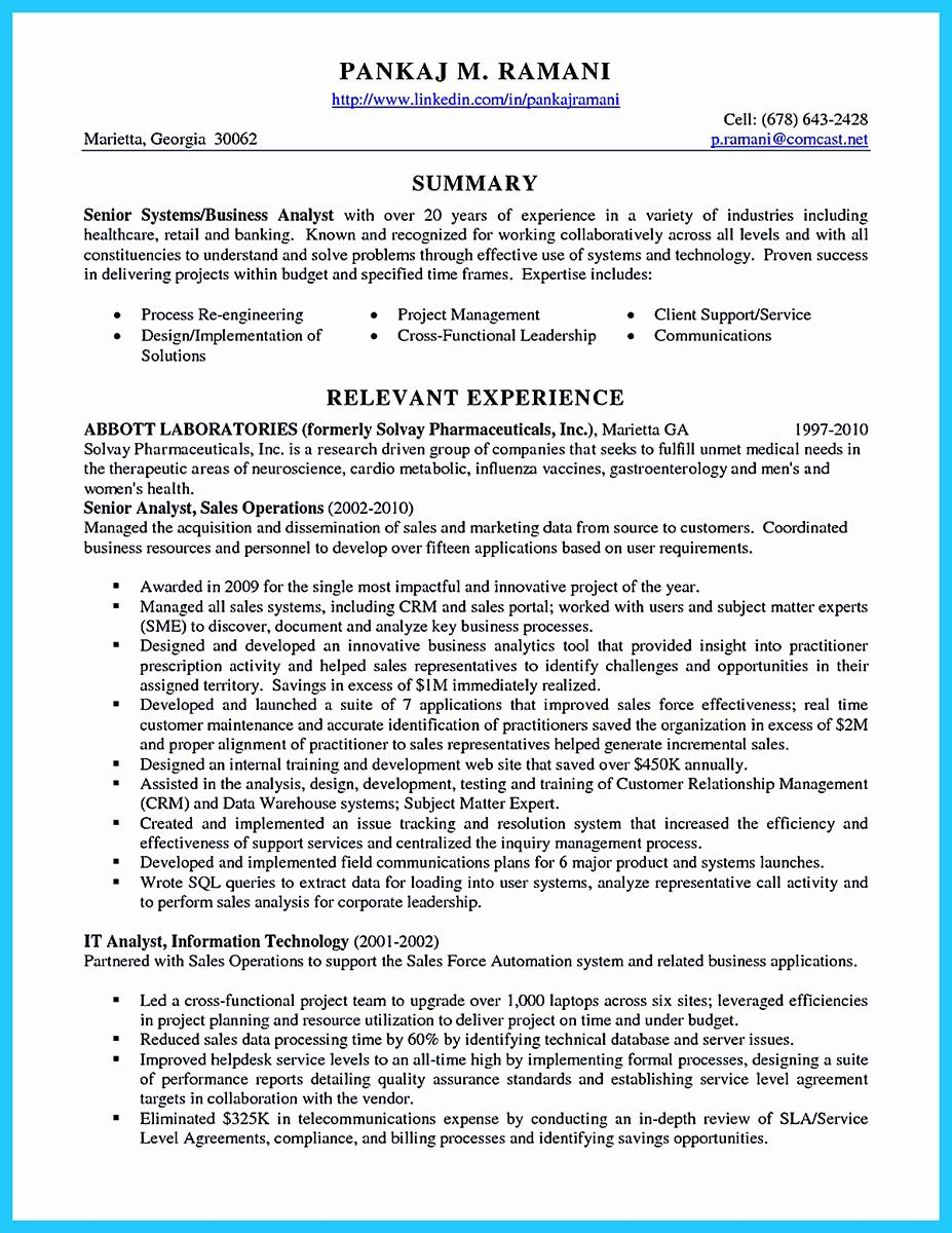 Business Systems Analyst Resume Best Of Best Secrets About Creating Effective Business Systems