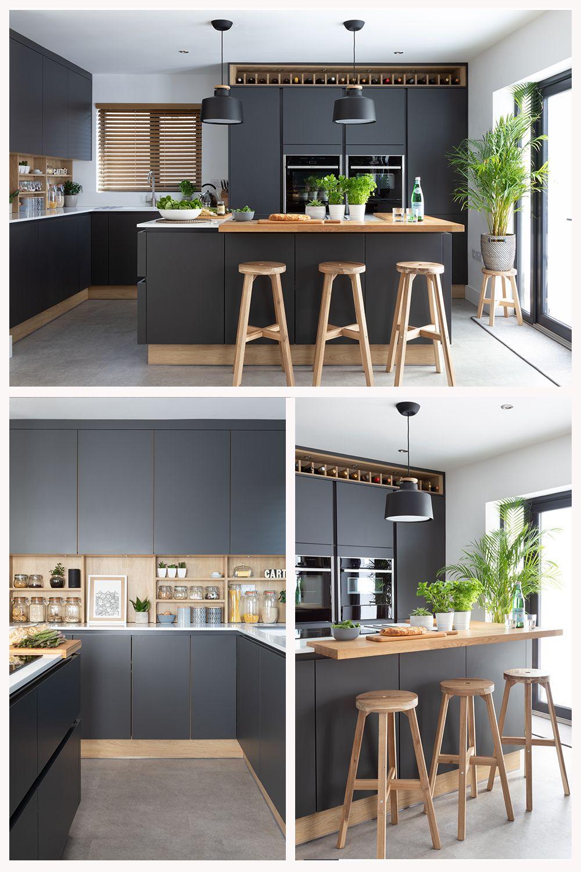 Dark Grey Scandi Kitchen