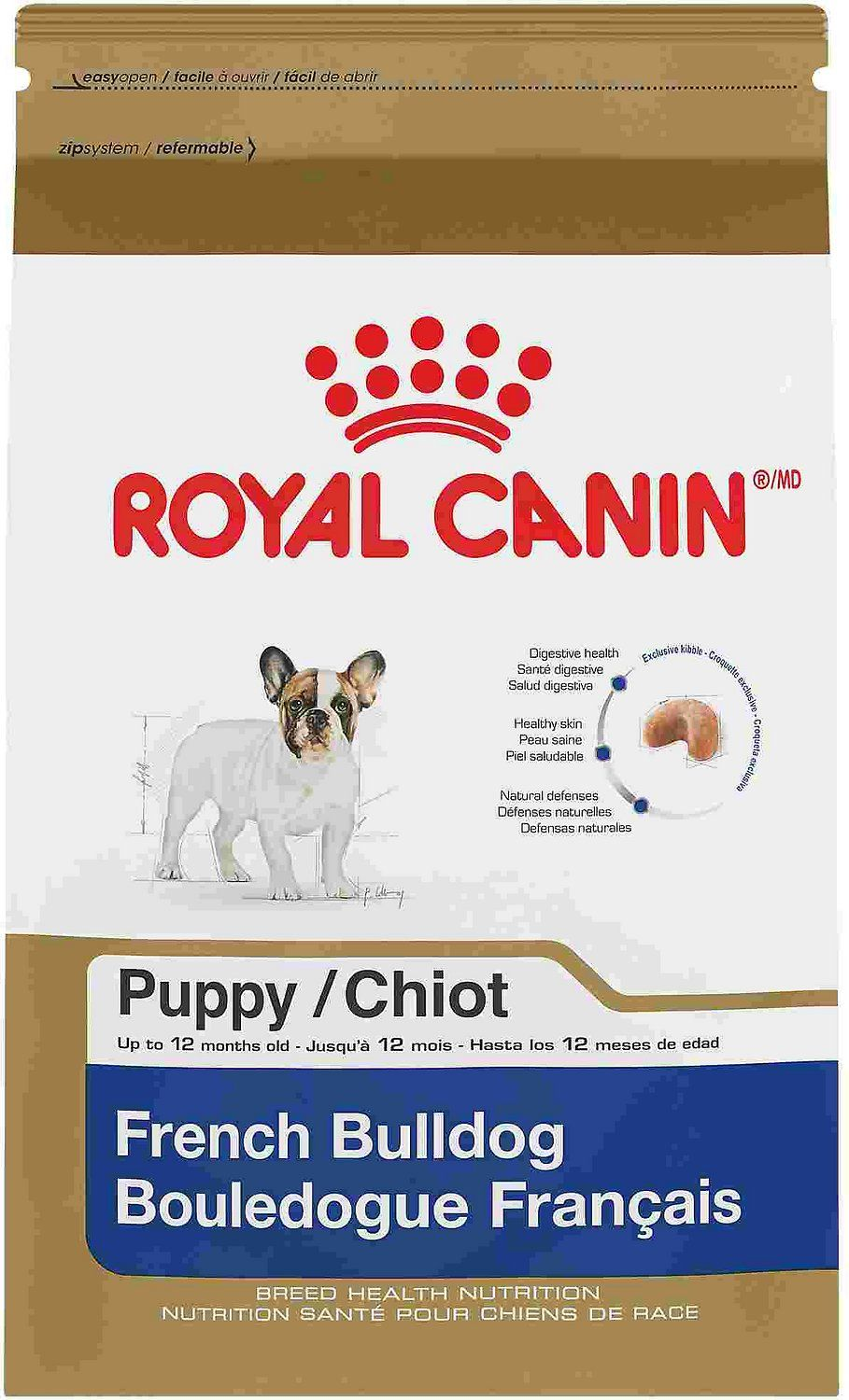Royal Canin French Bulldog Puppy Dry Dog Food 3 Lb Bag Chewy