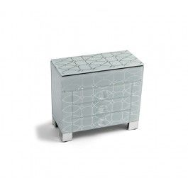Allure by Jay Printed Mirrored Jewelry Box with 3 Drawers