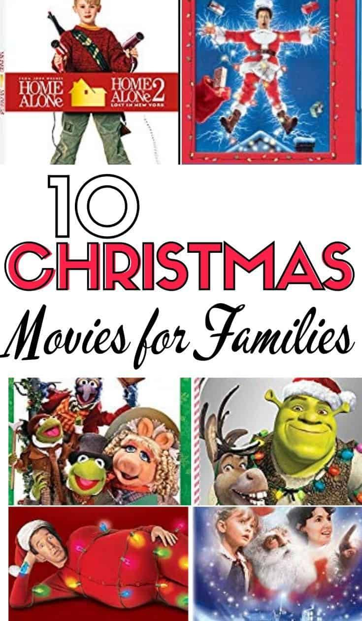 Looking for movies that the whole family can watch this holiday season? Check out 10 of the best Christmas movies for families. #christmas #holidays #christmasmovies #holidayfun #movies