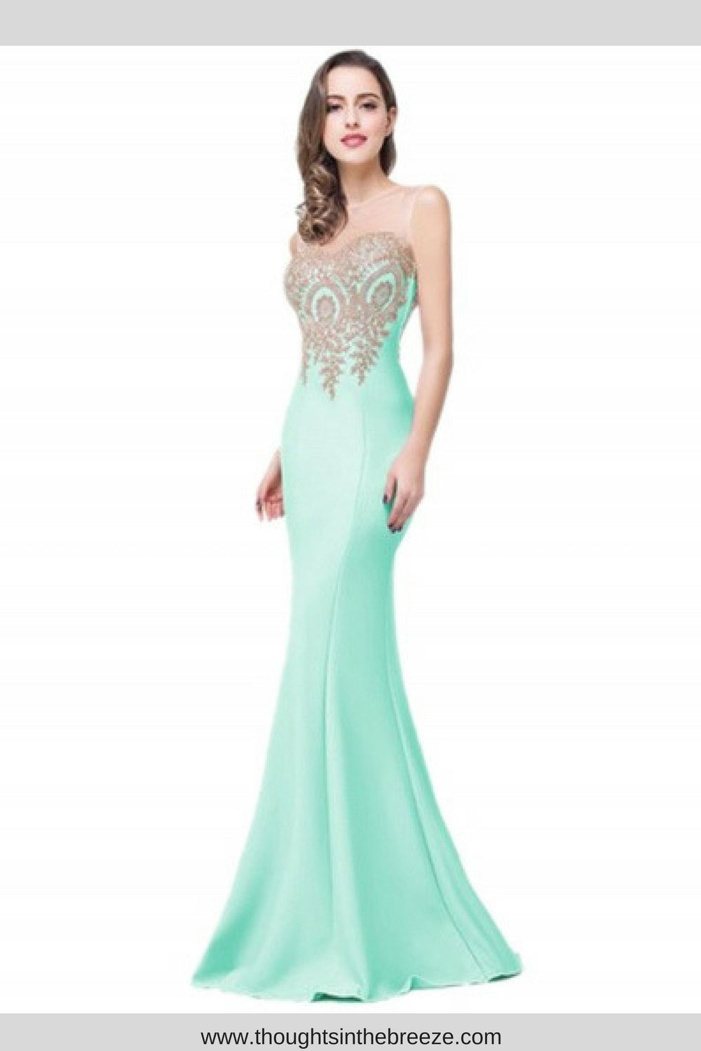 Womenus floral lace paneled mermaid prom dress looking for an
