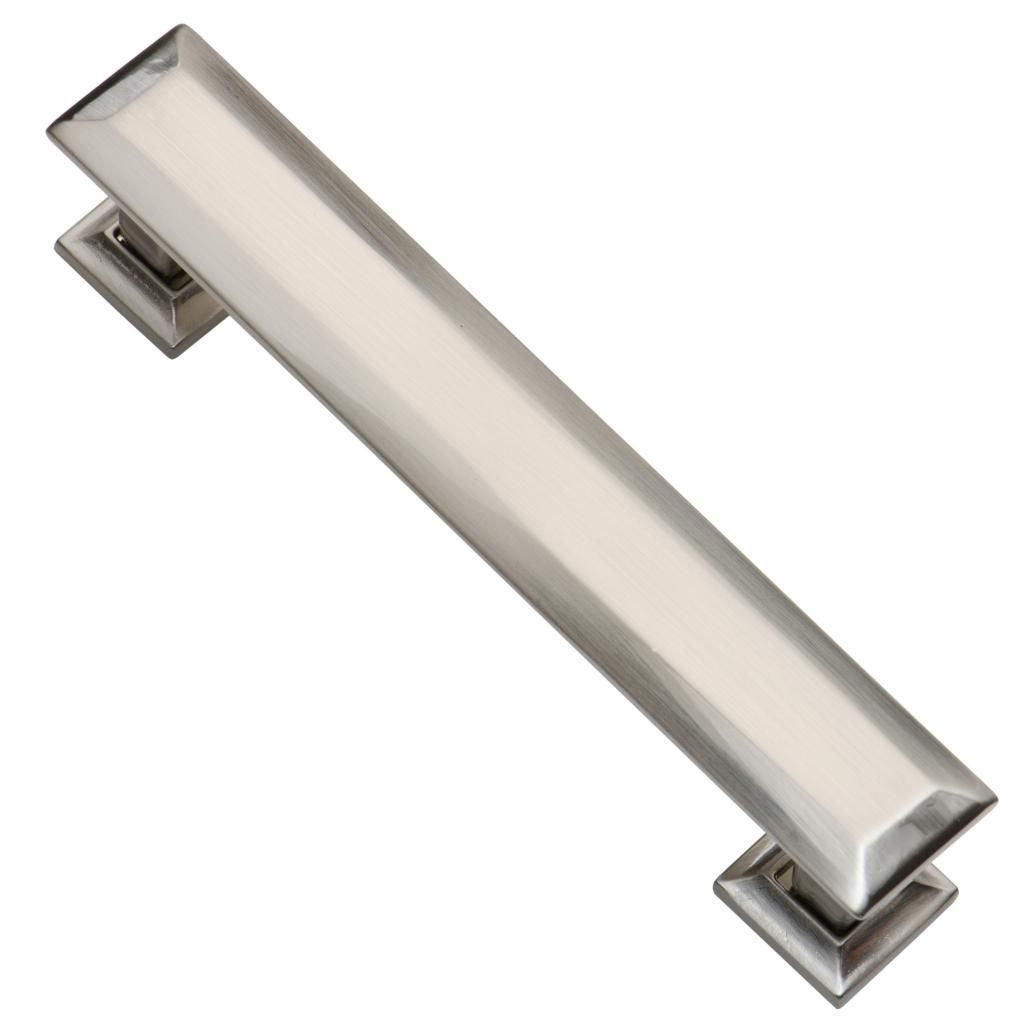 Pack of 10 Brushed Nickel Cabinet Pulls. 4.25 inch length with ...