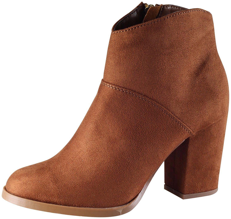 Women's Stacked Chunky Block Heel Western Ankle Bootie