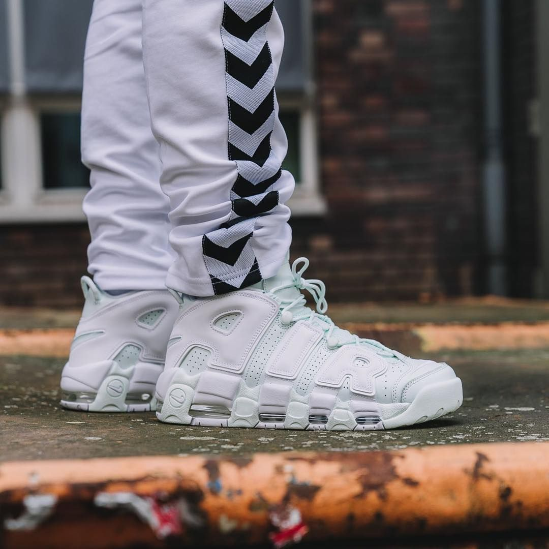 Nike Air More Uptempo Barely Green White | Women's