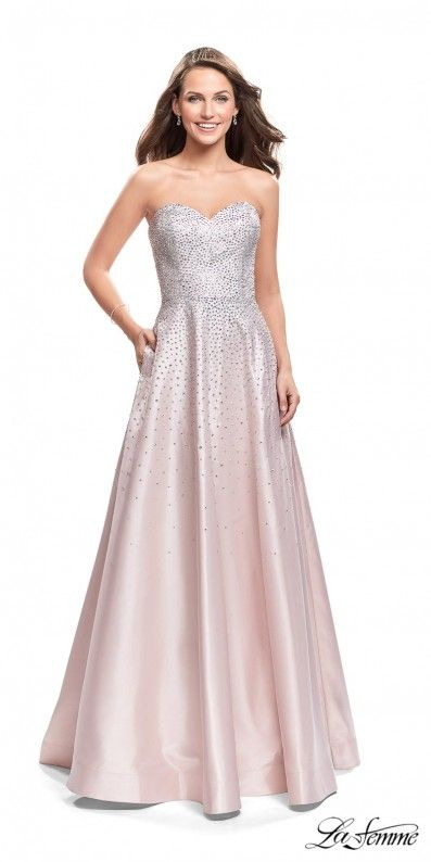 Shimmer and shine in the gorgeous Strapless Sparkle Beaded Mikado ...