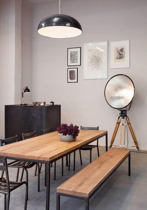maison gro e sch ne esstische aus massivholz von objets trouv s e15 co like pinterest. Black Bedroom Furniture Sets. Home Design Ideas