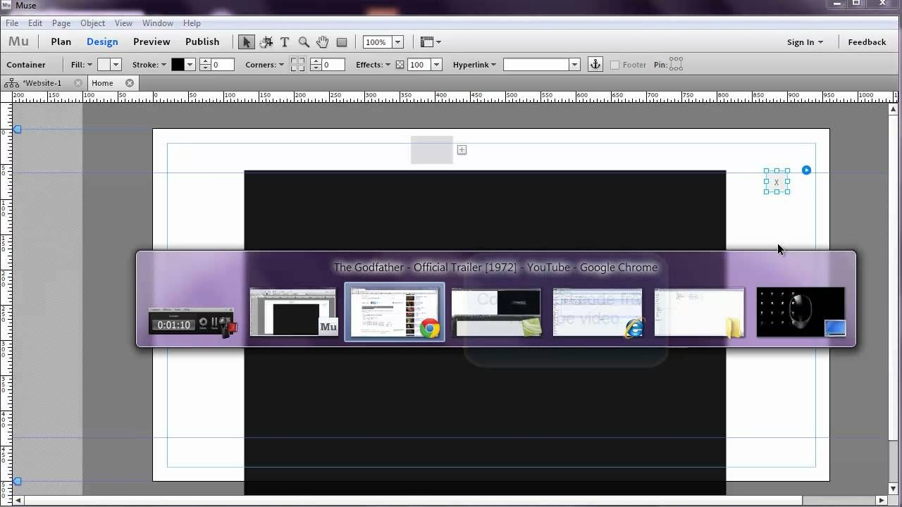Adobe Muse - Lightbox Effect for YouTube Video | AR, VR, Web