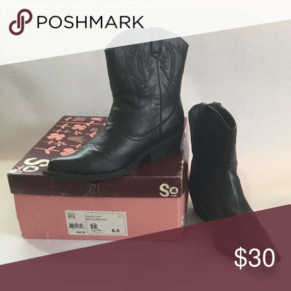 a1183075844 SO Lyla Black MIDI Cowboy Boots 👢Nearly New In excellent Nearly-New ...