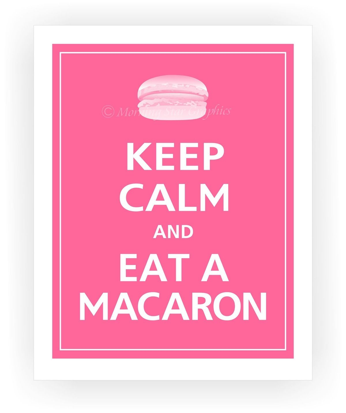 Keep Calm Worter Macarons Spruche