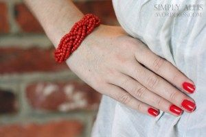 Bracelet from braided beads, simple and very pretty