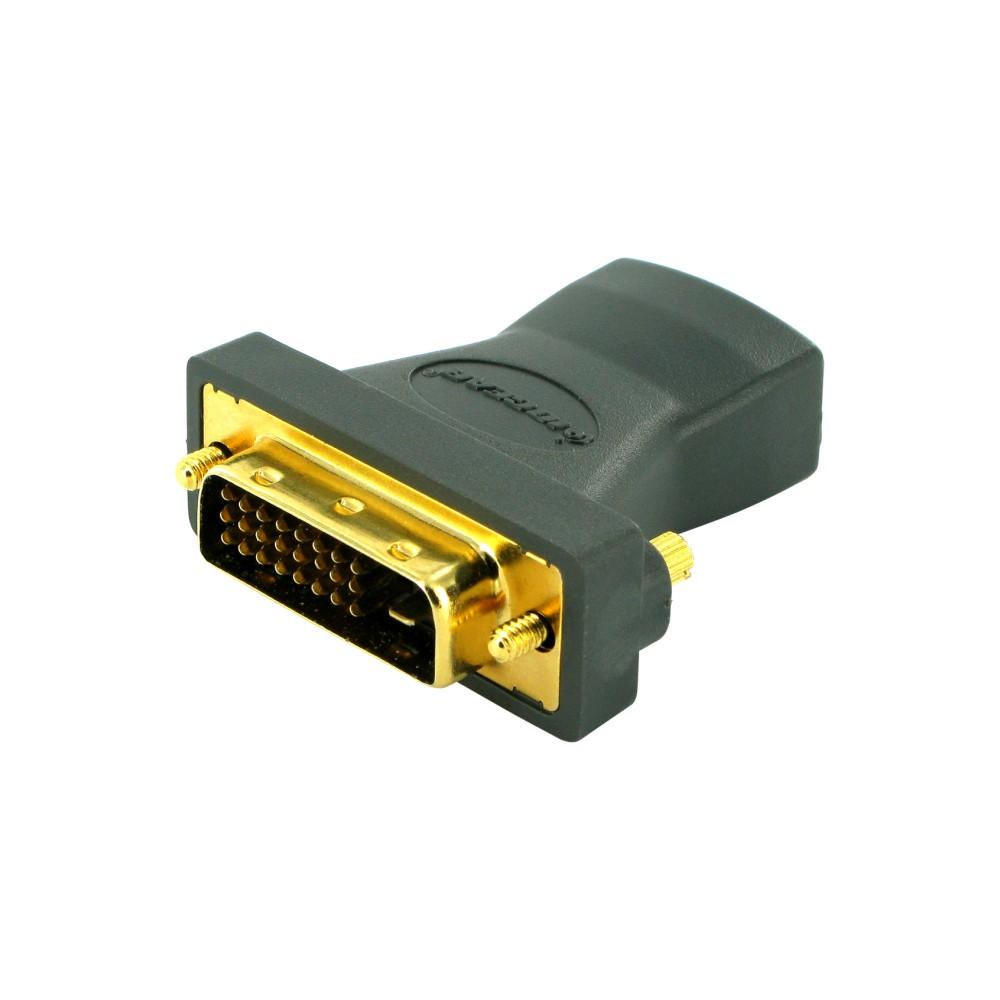 Iogear Digital Video Adapter 1 Pack 1 X Dvi D Dual Link Male Digital Video 1 X Hdmi Female Digital Audio Video Gold Connector Digital Video