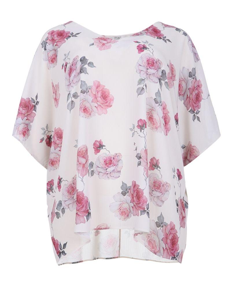 eaf82e2fa39d Μπλούζα με floral μοτίβα — mat. XXL sizes — Γυναικεία Ρούχα