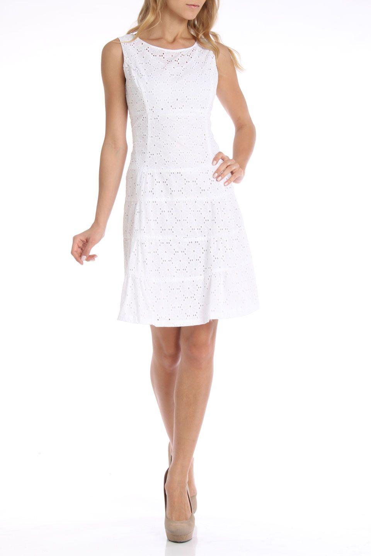 Nine West White Eyelet Dress