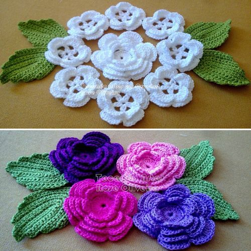 Crochet Flower Bouquet Free Diagram Crafts Pinterest Flower