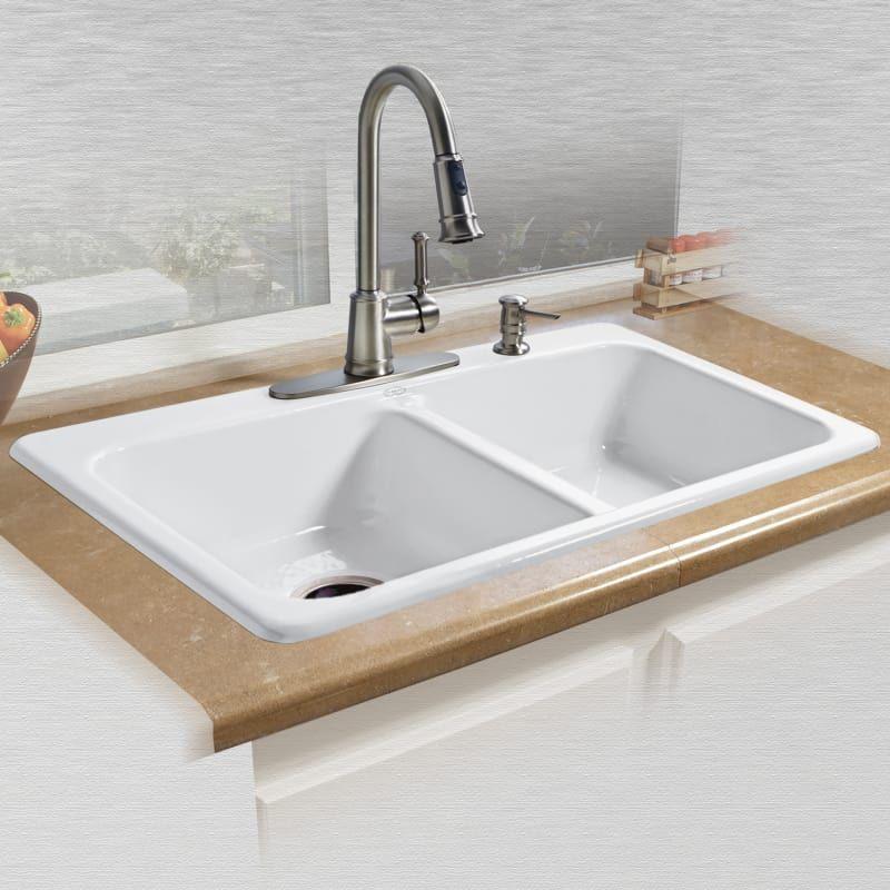 Miseno Mci25 4tm Cast Iron Kitchen Sinks Drop In Kitchen Sink Sink