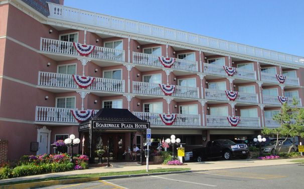 Outside The Beautiful Boardwalk Plaza Hotel In Rehoboth Beach Delaware