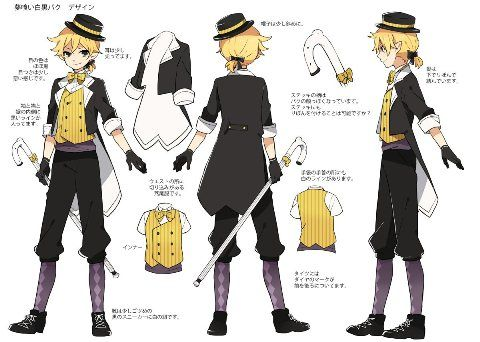 Dream Eating Monochrome Baku Anime Character Design Vocaloid