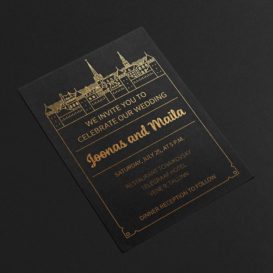 card templates for wedding invitation%0A The task was to make a wedding invitation with a view of Tallinn  Print InvitationsInvitation  CardsInvitation DesignWedding
