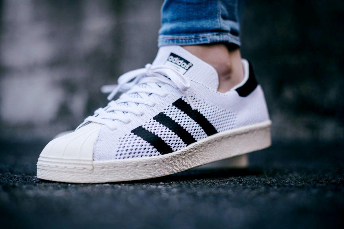 ADIDAS SUPERSTAR 80S PRIMEKNIT 'WhiteBlack' | Adidas