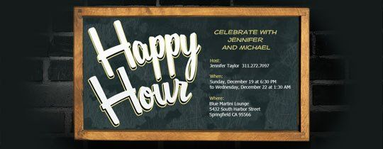 happy hour free online invitations happy hour invitations