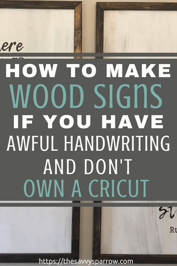 Cheap and Easy DIY Farmhouse Wood Signs - A Step-by-Step DIY Tutorial!
