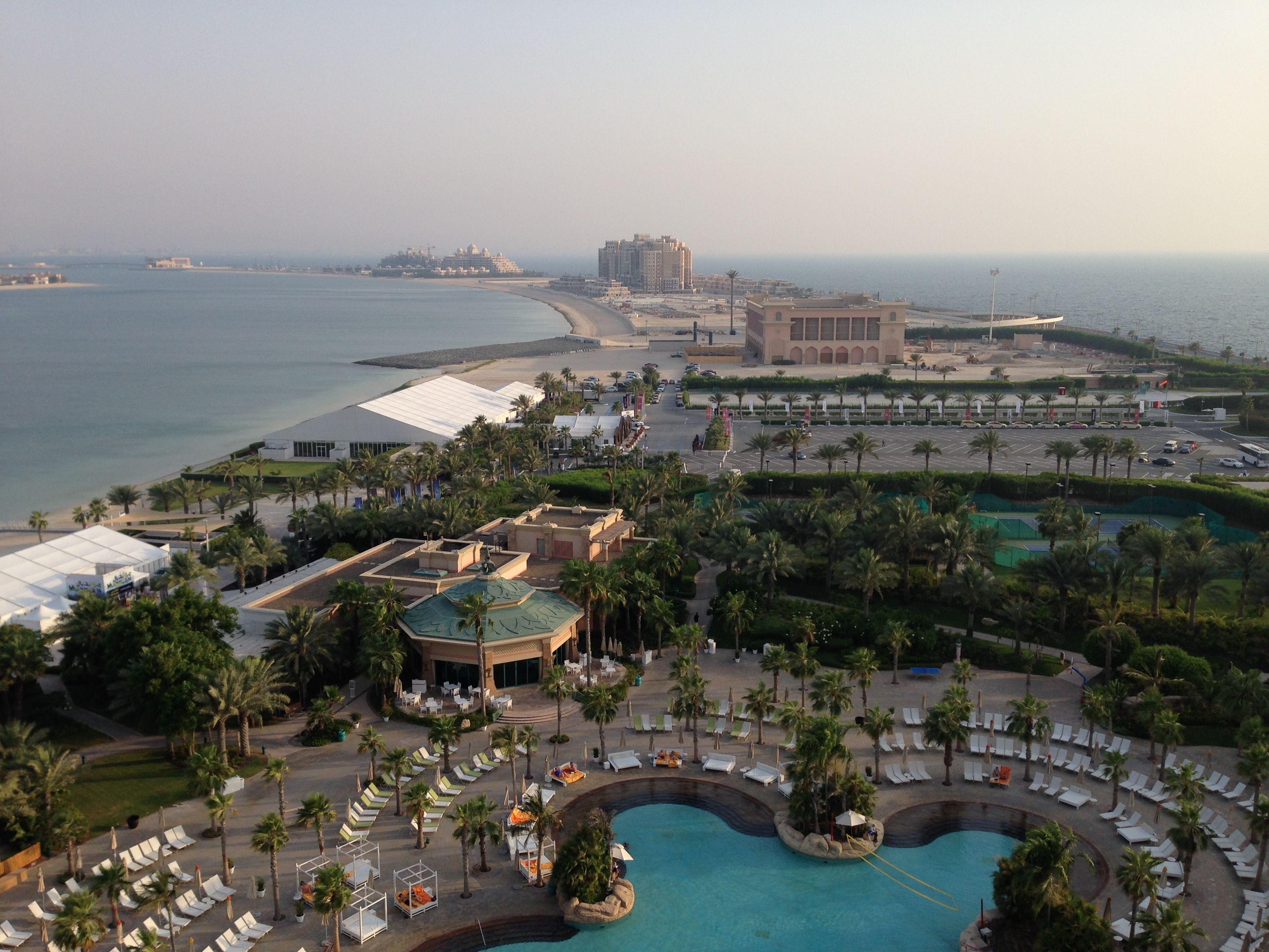 View from room at the atlantis Palm resort Dubai
