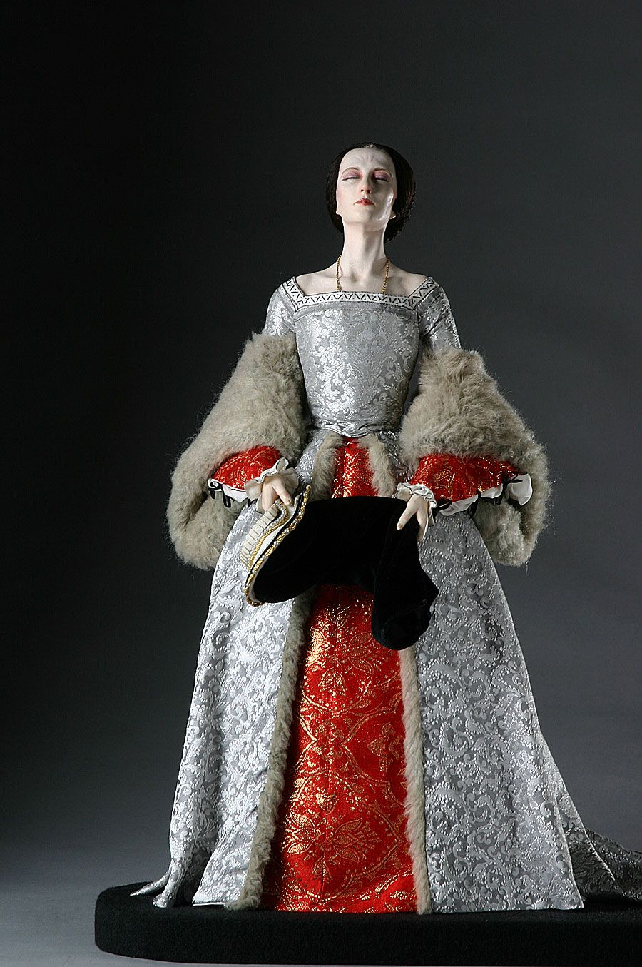 Full Length View of Queen Anne Boleyn in mixed media. Figure from the  Museum of Ventura County collection. f43a132a3e416
