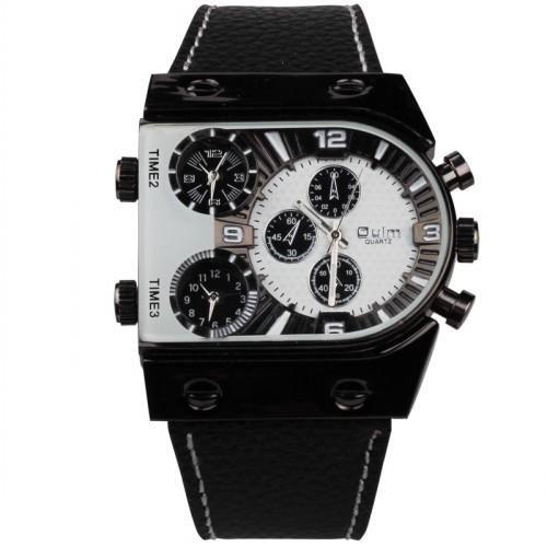 2a70bd3fd74 OULM 007 Original Brand Military Designer Watch Men Big Leather dz Watches  Montre Homme de Marque relogio masculino Saat Black