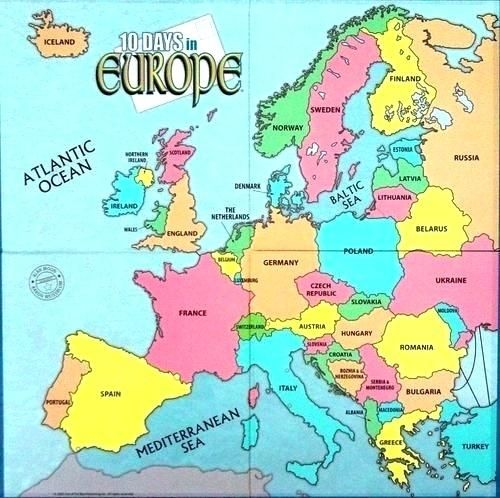 Europe Map Labeled colored map of europe as well as maps ...
