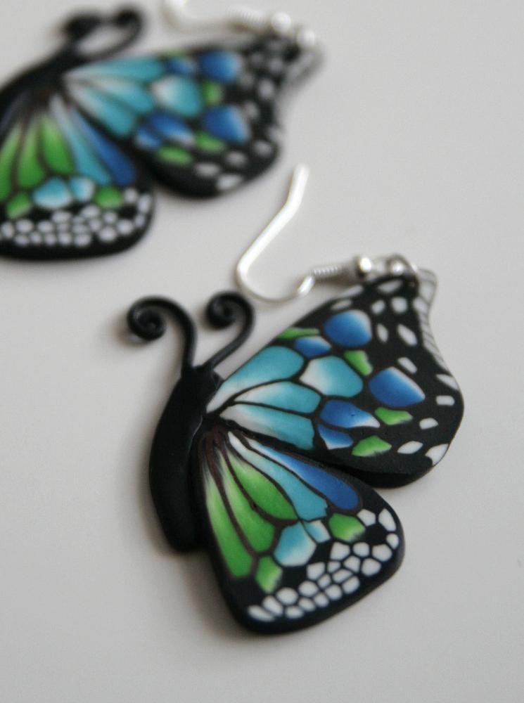 Náušnice - náušnice motýle velké - 2073669