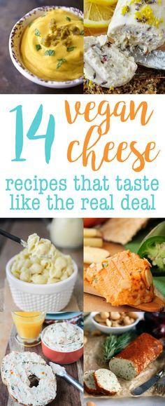 14 Vegan Cheese Recipes that Taste Like the REAL DEAL!  via @thecrunchychron