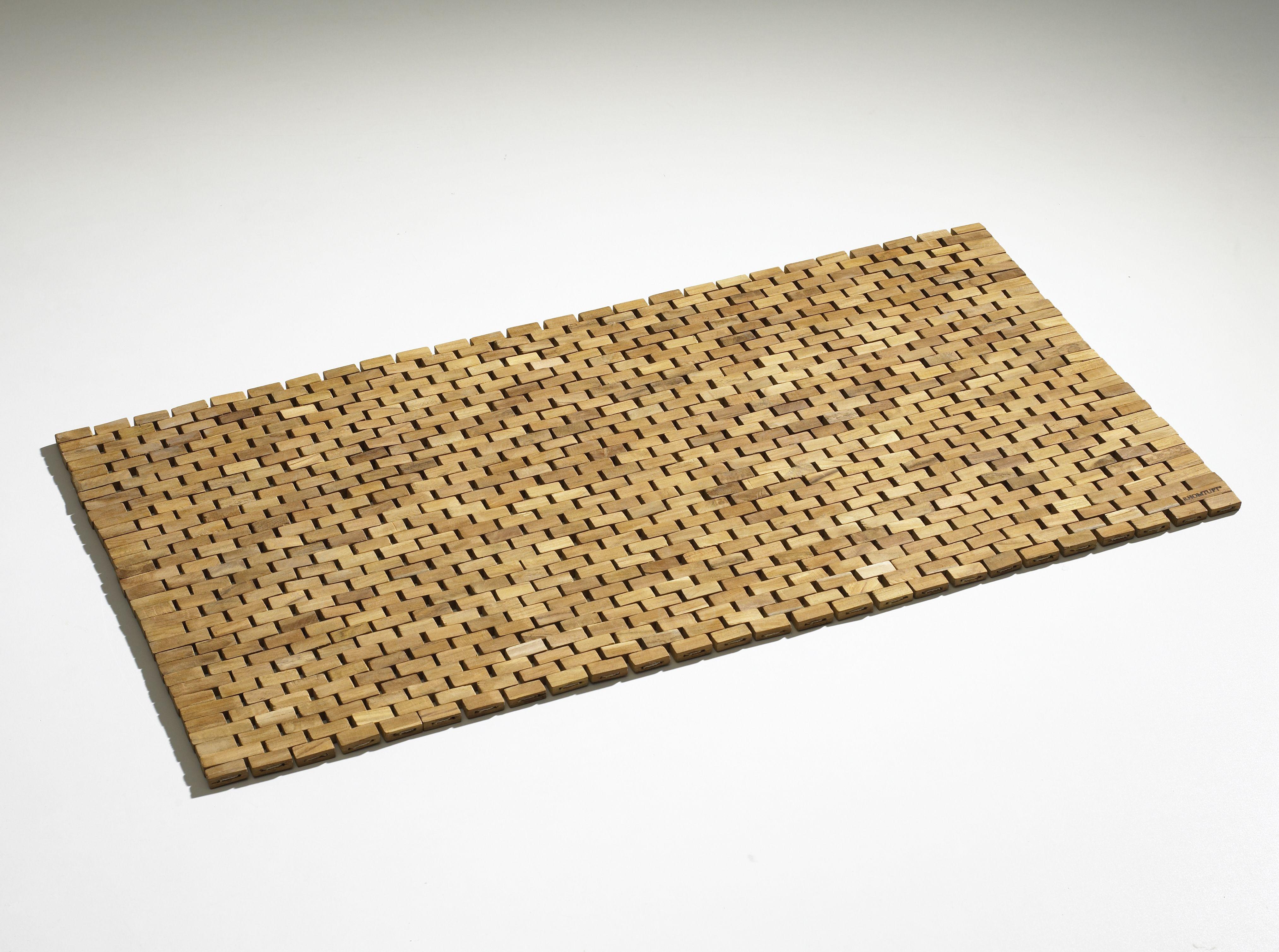 badvorleger holz pieces badvorleger holz aus teakholz edles mosaik, Hause ideen