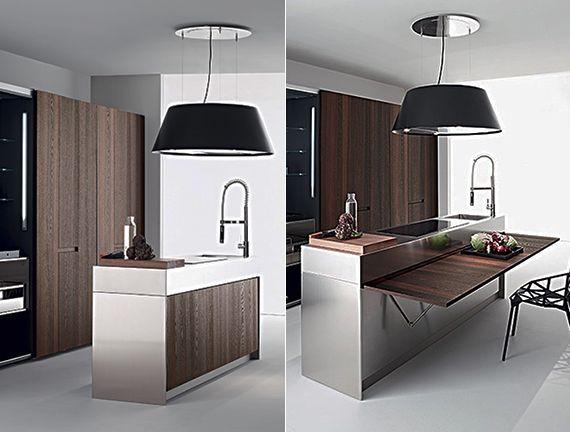 enge und kleine r ume einrichten mit modernem klapptisch wohnen pinterest k che kleine. Black Bedroom Furniture Sets. Home Design Ideas