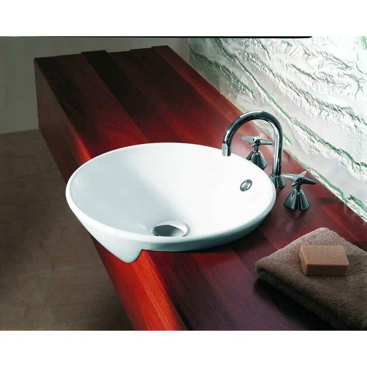 caroma leda vasque semi recessed sink