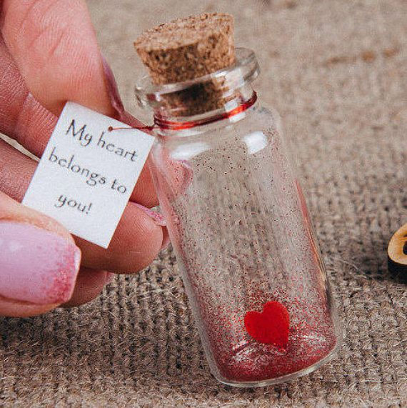 Photo of Gift For Boyfriend Romantic Greeting Card Message In a Bottle Love Gift For Him Lesbian Girlfriend Gift Wife to Husband gift Valentines Card