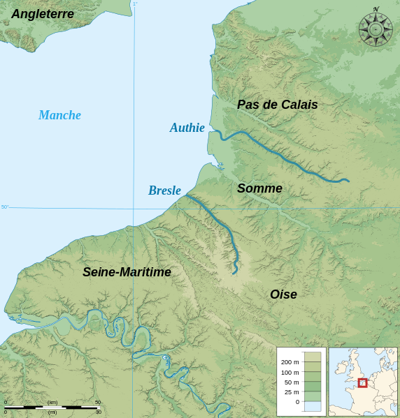 File Location Authie And Bresle River Fr Svg Wikimedia Commons River Normandy Locations