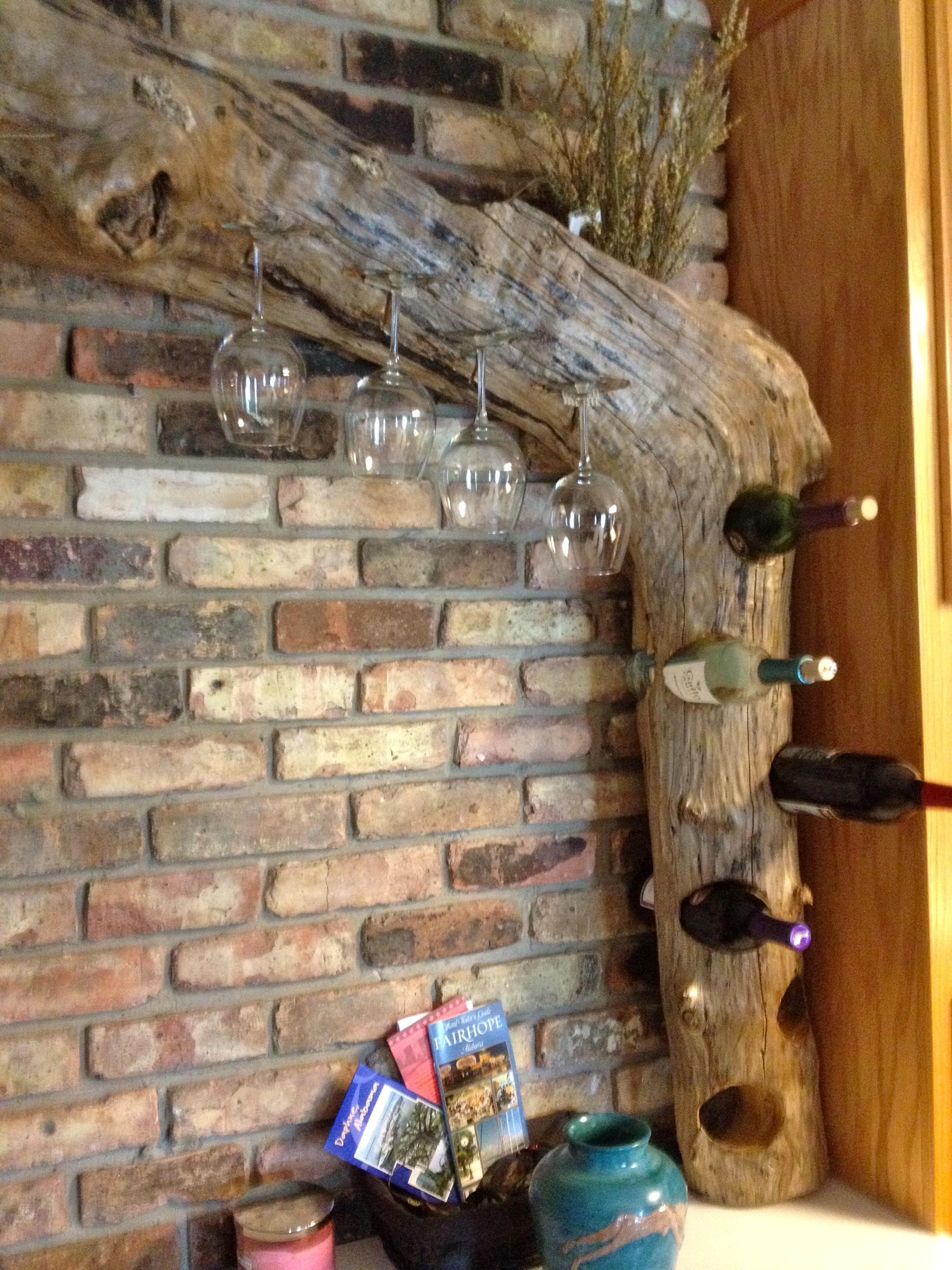 This Driftwood Wine Rack Was Made By My Son Who Lives Down