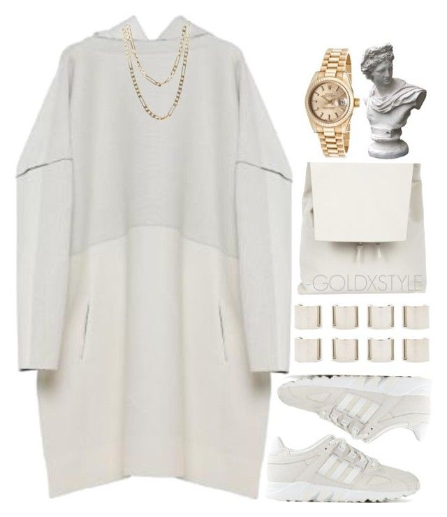 """""""HUMAN NATURE."""" by goldxstyle ❤ liked on Polyvore featuring CÉLINE, adidas, Luv Aj, Gvyn, Cartier, Market and Rolex"""