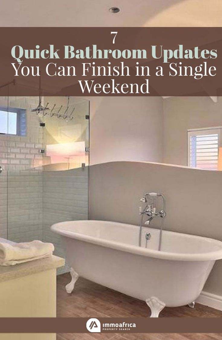Quick Bathroom Updates You Can Finish In A Single Weekend - Quick bathroom updates