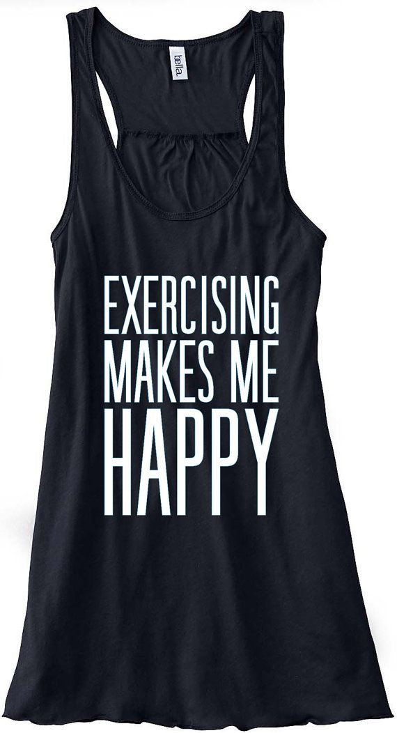 7a5b249dfb9069 Exercising Makes Me Happy Train Gym Tank Top by sunsetsigndesigns ...