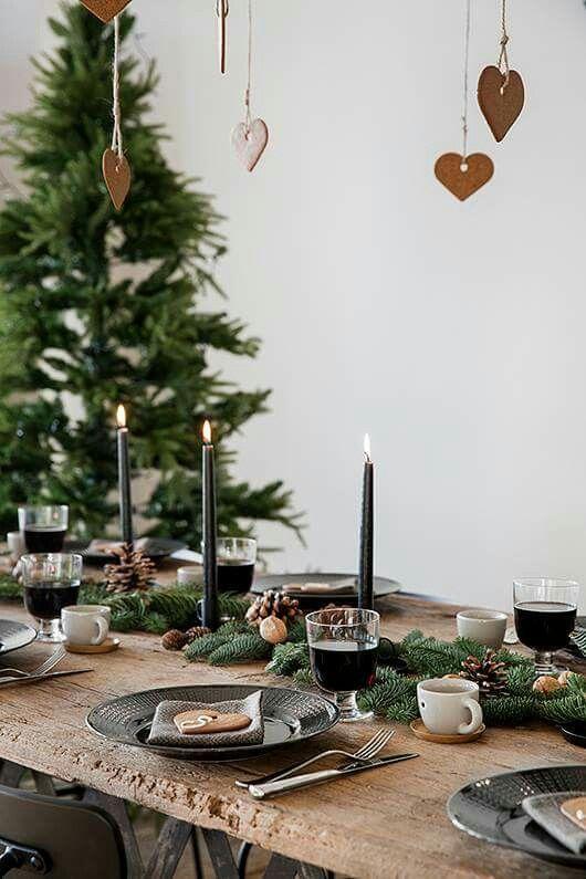 Weihnachtliche Tischdeko Christmas Pinterest Weihnachten