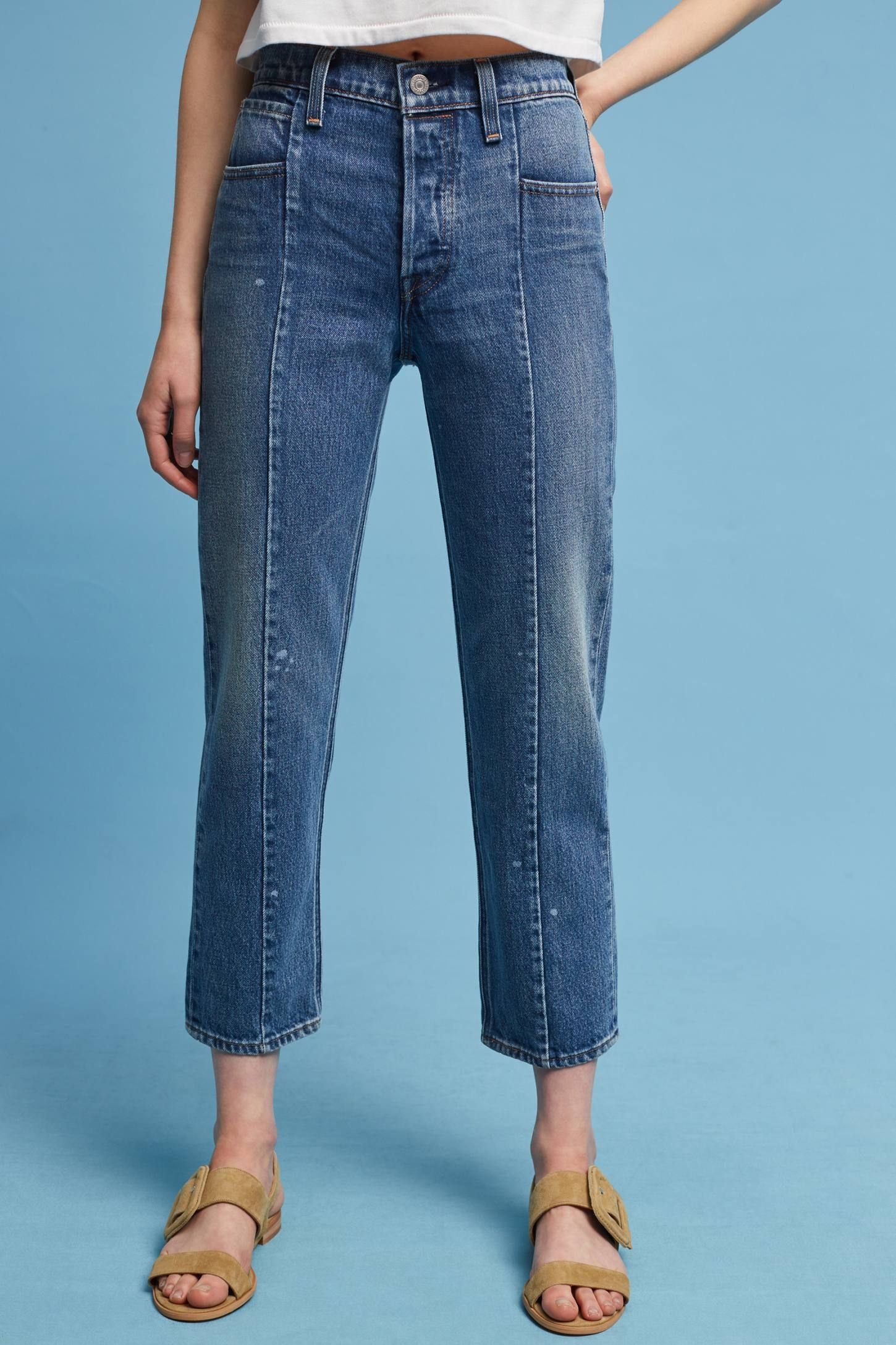 c95cba8bb Shop the Levi s Altered Straight High-Rise Cropped Jeans and more  Anthropologie at Anthropologie today. Read customer reviews